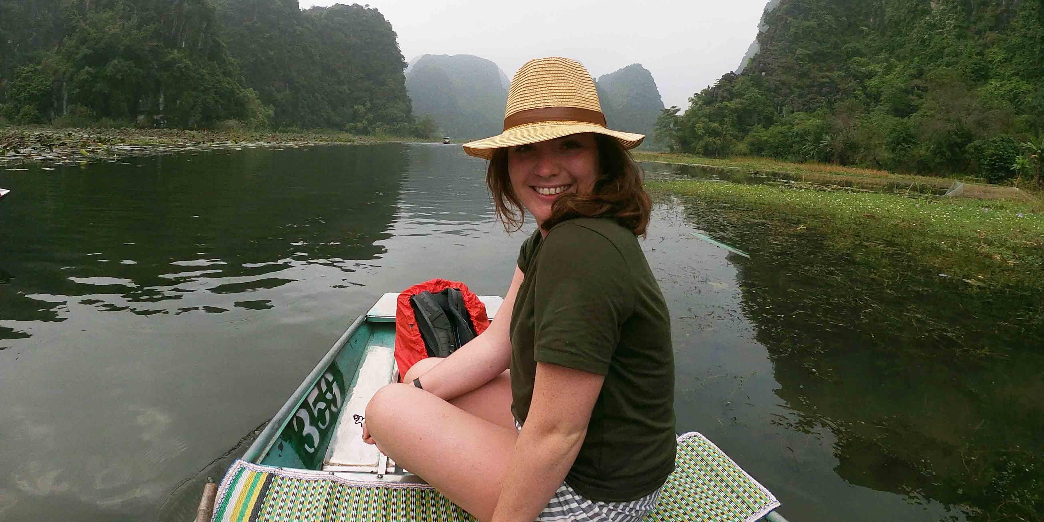 Sacha while traveling Vietnam